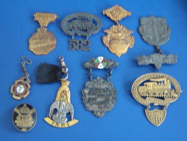 74: 9 Antique Medals