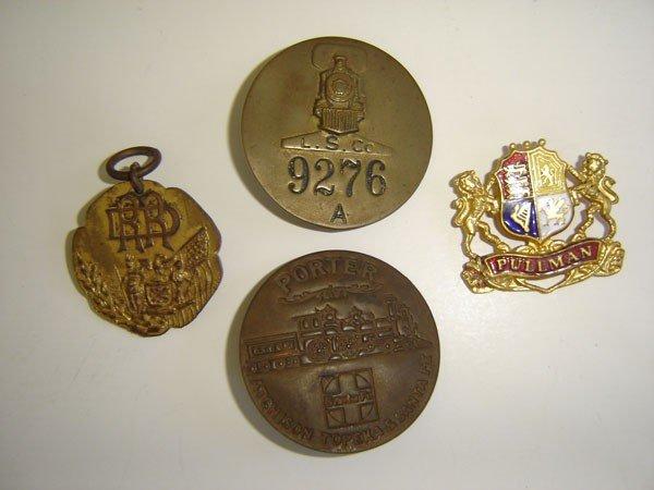 70: 4 Vintage Railroad Pins