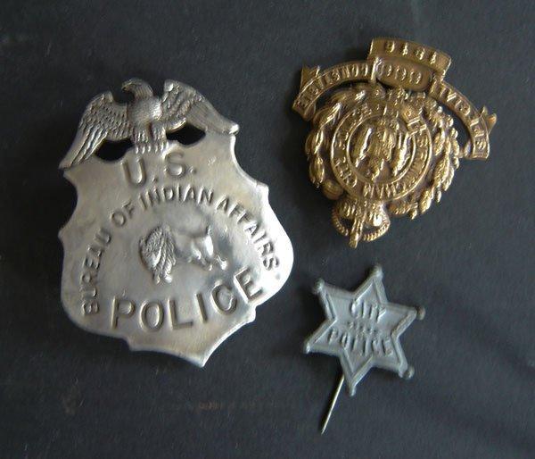61: 3  Vintage Police Badges