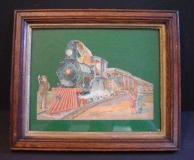 "1896 Locomotive Advertisement ""The Boston Globe""."