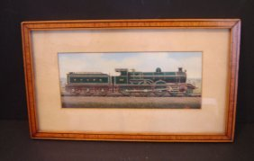 Oil Painting Glasgow And Southwestern Locomotive