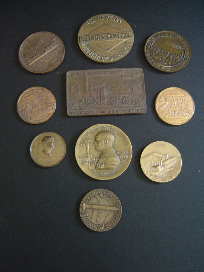 83: 10 Vintage Railroad Related Medals