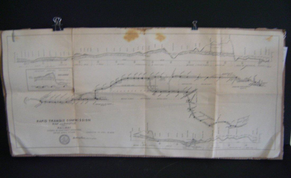 53: 1898 Rapid Transit Commission Map & Profile Of Rail