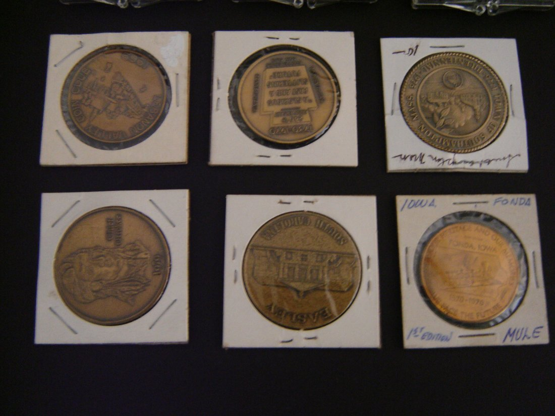76A: Lot Of 13 Vintage Railroad Coins