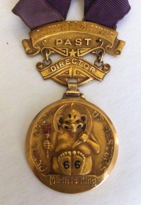 10: 14k Shriner  Directors Royal Order Of Jesters MedaL