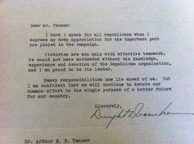 14:4 Sgnd Letters Eisenhower ,Prescott Bush John Lodge