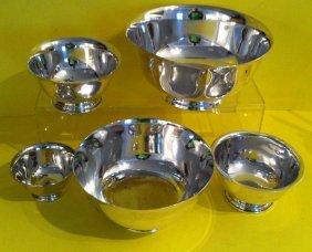 18: Lot Of  5 Vintage Sterling  Silver  Bowls