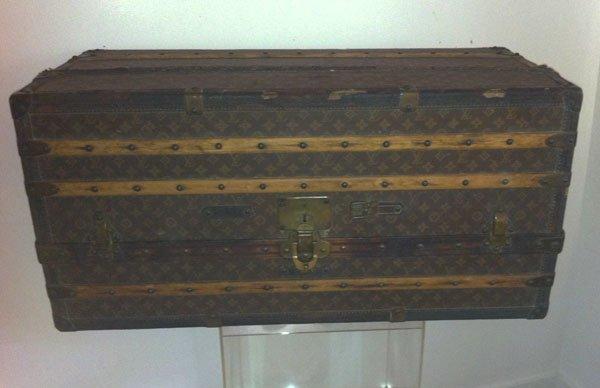 86:  Unusual Antique Vintage Louis Vuitton Trunk