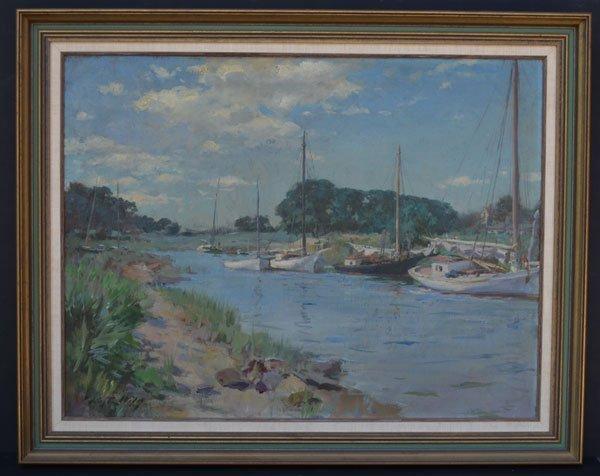 123 O/C Painting Coastal Scene Sgnd Irving Ramsey Wiles