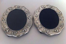2 Art Nouveau Style Sterling Picture Frames