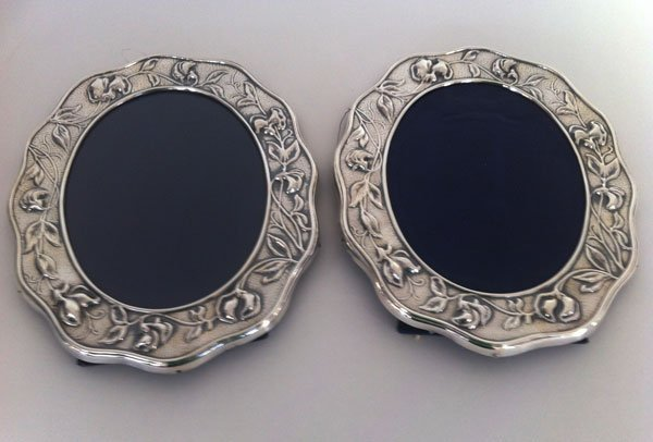 15: 2 Art Nouveau Style Sterling Picture Frames