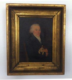 Charming 19th C. O/C Gentleman King Charles Spaniel
