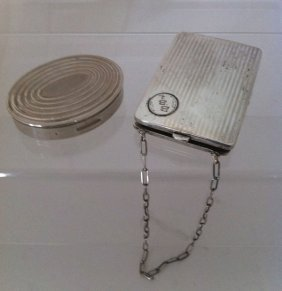 3: Lot Of 2 Vintage Sterling Cosmetic Cases