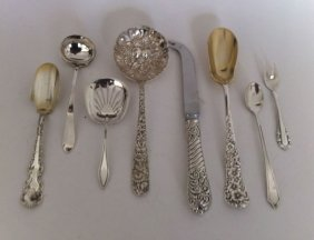 2: 8 Unusual Vintage Sterling Silver Serving Peices