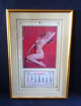 9: Original 1955 Marilyn Marilyn Monroe Framed Calender