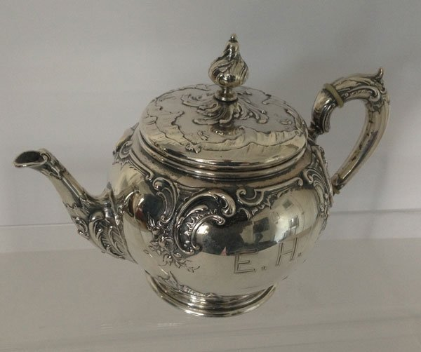 6: Stunning Ornate  800 Silver Tea Pot