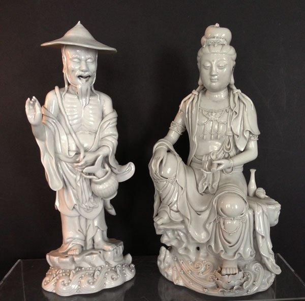 7: Nice Pr. Of Vintage Blanc De Chine Figures
