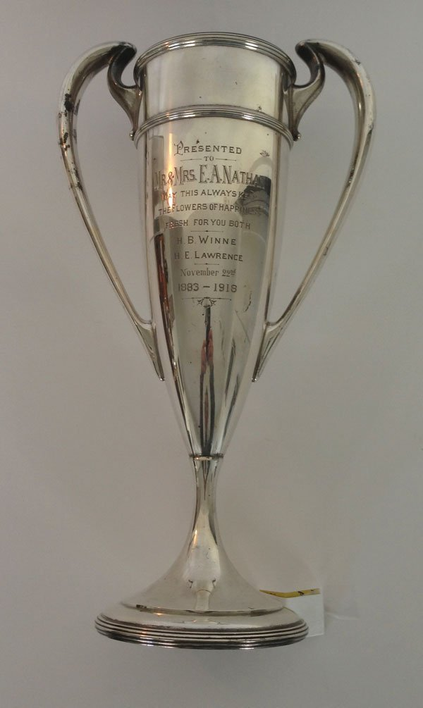 8: Large 1918  Gorham Sterling Presentation Trophy