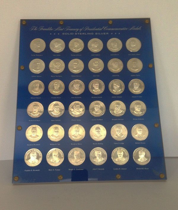 10: Presidential Sterling Silver Commemorative Medals