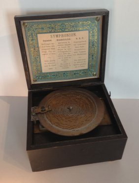 "Circa 1890 Miniature 6""  Disc Symphonion Music Box"