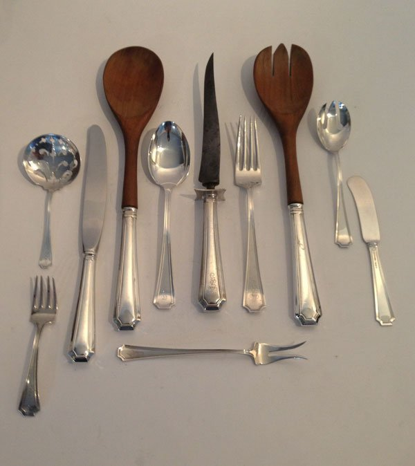 16: 59 Pcs. Of Gorham Sterling Silver Flatware