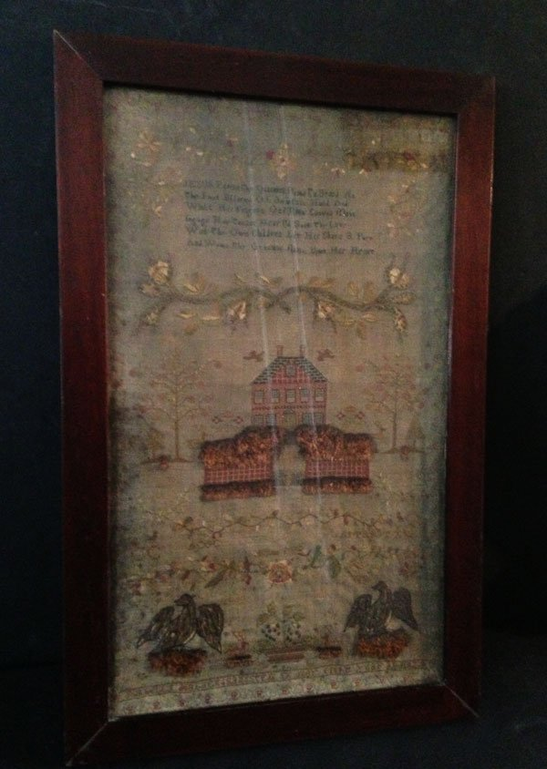 41: Stunning Antique Sampler Dated 1829