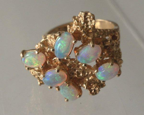 14B: Retro 14 K Opal Ring