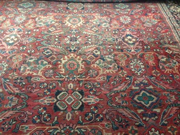 5B: Vintage Hand Made Room Size Heriz Carpet