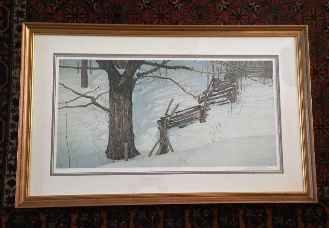 "Limited Edition Robert Bateman ""Winter Into Ontario"""