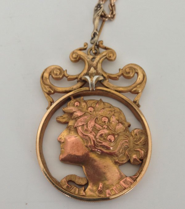 Incredible Figural Victorian Pendant