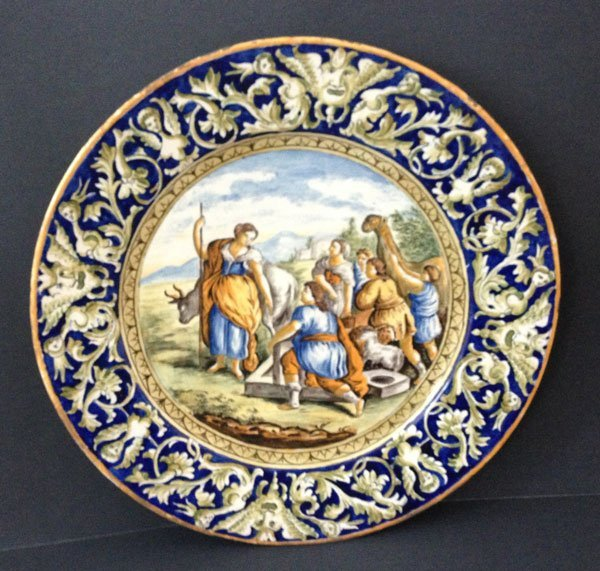 Large 19th Century Italian Faience Charger