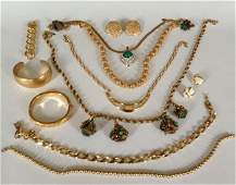 Large Lot Of Vintage Signed Monet Costume Jewelry