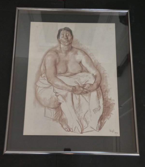 1973 Ellegibly Signed Lithograph Of A Woman