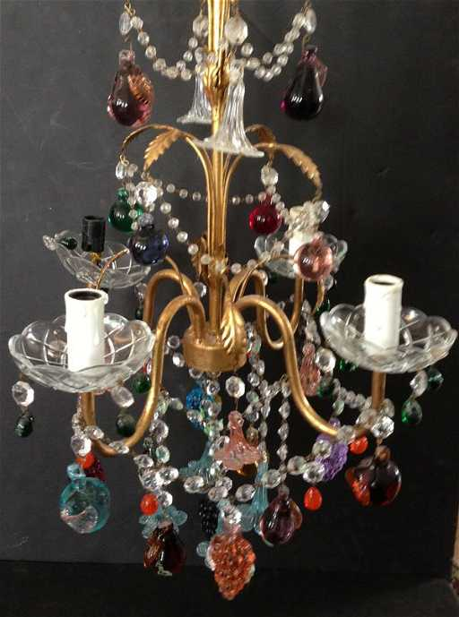 The best vintage italian glass fruit chandelier mozeypictures Images