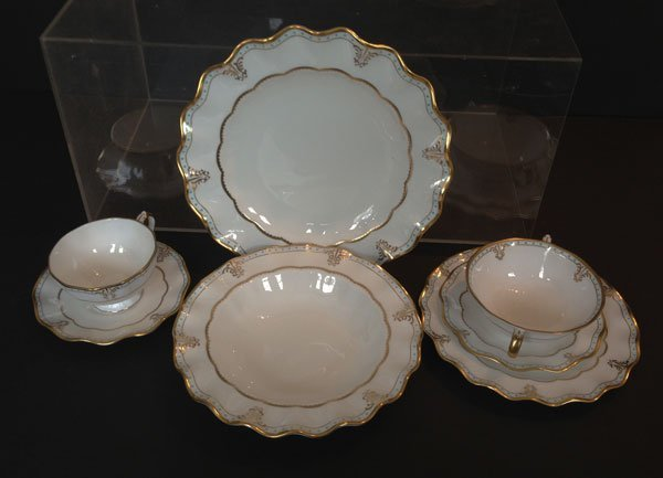 Stunning Set Of 56 Lombardy Royal Crown Derby China