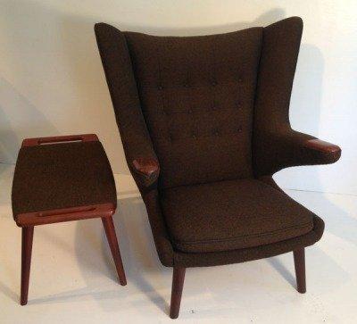 Hans Wegner Papa Bear Chair And Ottoman