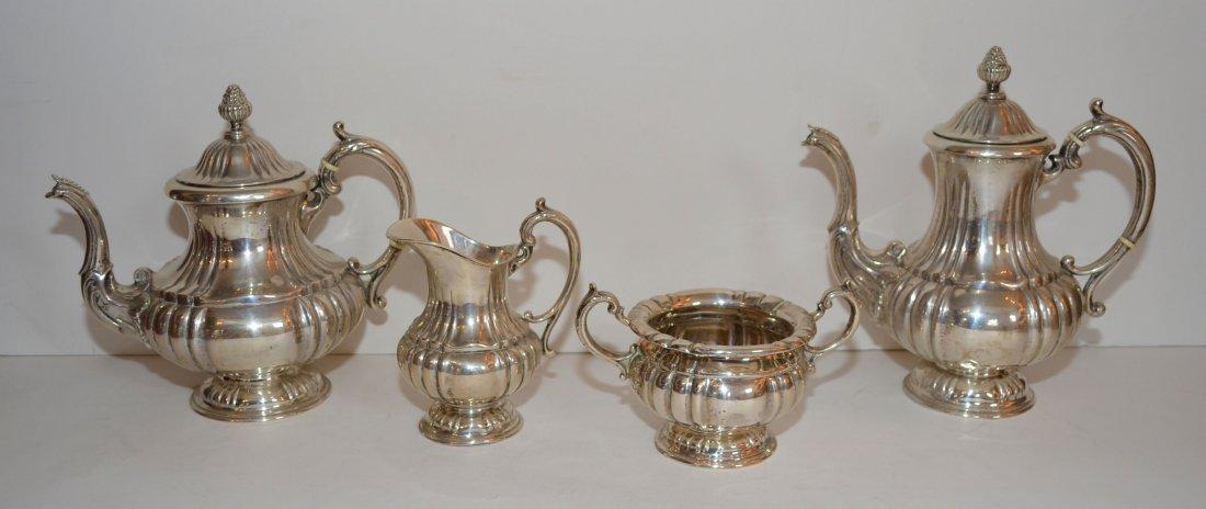 Lovely 830 Silver 4 Piece Tea Set