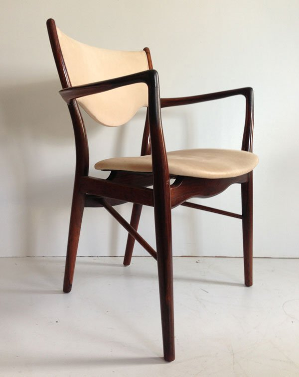 Signed Illums Bolighus Rosewood & Leather Chair
