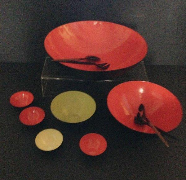 26 Pcs Of Krenit Danish Enamel Bowls and Utensils