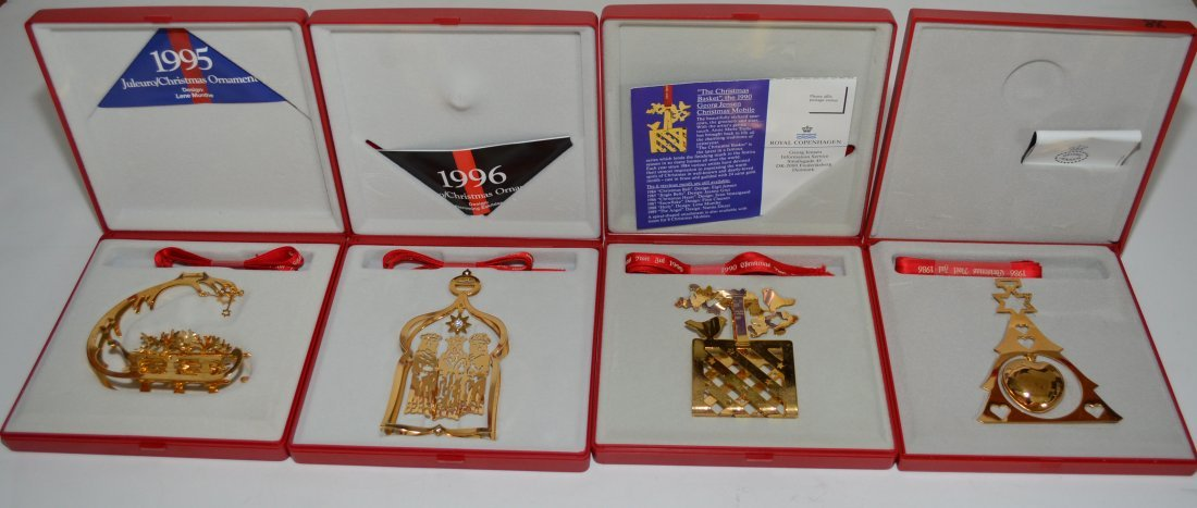 4 Georg Jensen Boxed Annual Christmas Ornaments