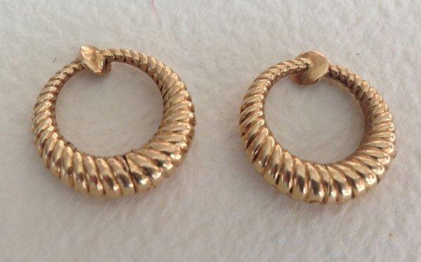 14K Gold Tiffany & Co Earrings