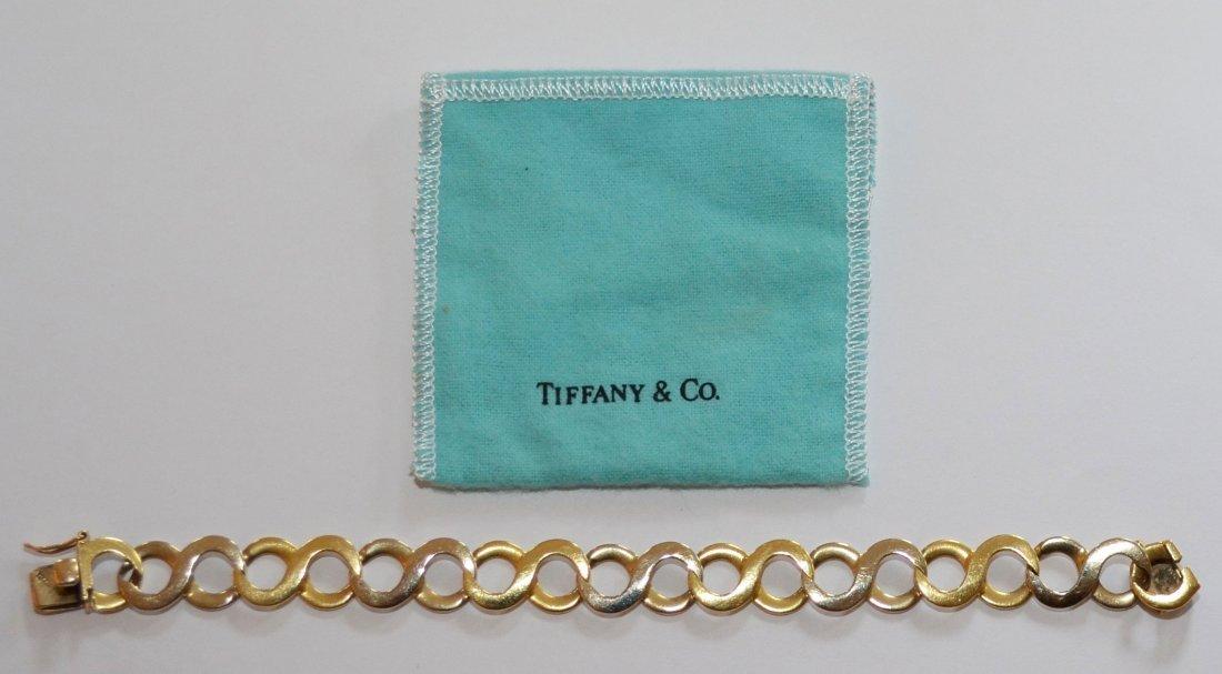 Tiffany & Co 18K Gold Infinity Bracelet