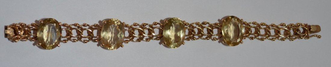 14k Gold & Citrine Bracelet