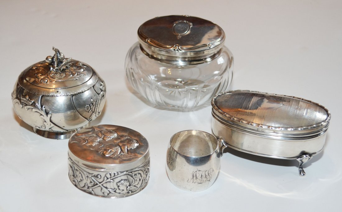 Wolf & Knell Hanau Silver Jar & Vanity Boxes