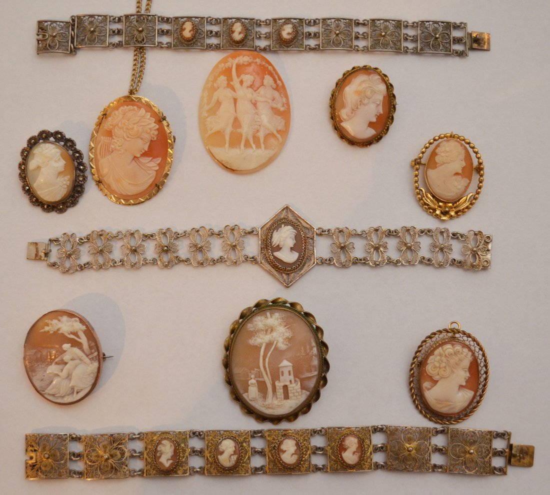 Interesting Lot of Carved Cameos