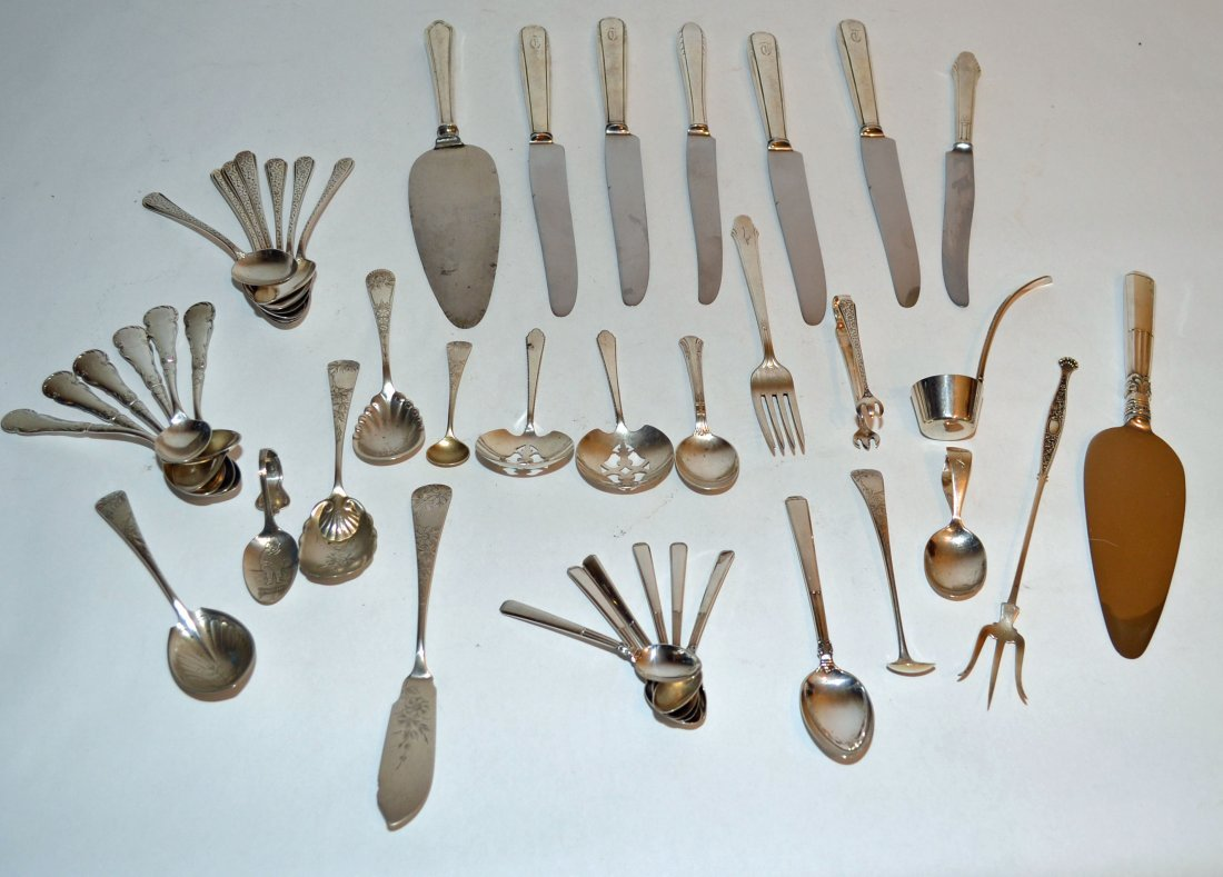 Large Lot Of Sterling Flatware Pieces