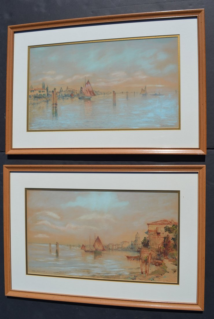 2 Dated 1898 Arthur Diehle Signed Watercolor Paintings