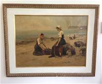 Vintage O/C Painting Signed L Foy Bettanier