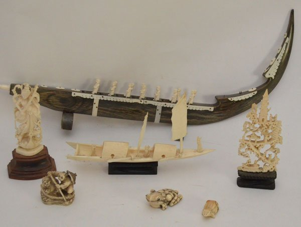 Collection of Asian And Various Other Ivory Carvings