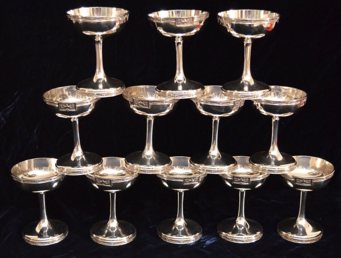 Gorham Sterling Silver Lansdowne Champagne  Bases